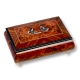 Lutèce Créations musical jewelry box made of wood with traditional 18 note musical mechanism - Item # for this Lutèce Créations musical jewelry box : PA.18.1600