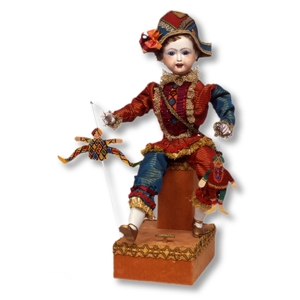 Musical automaton made of porcelain with traditional 36 note spring musical mechanism - Item# for this musical automaton : AU.003