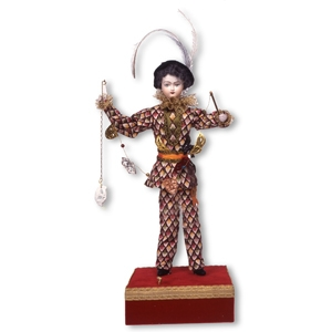 Traditional musical automaton made of porcelain with traditional 36-note wind up musical mechanism - Item# for this musical automaton: AU.004