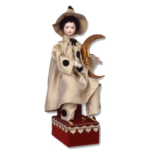 Traditional musical automaton made of porcelain with traditional 36 note spring musical mechanism - Item# for this musical automaton : AU.005
