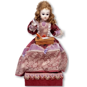 Traditional musical automaton made of porcelain with traditional 36 note spring musical mechanism - Item# for this musical automaton : AU.006
