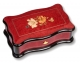 Lutèce créations music box made of maple wood with flowers and butterflies inlay and traditional 50 note musical mechanism - Item # for this Lutèce Créations music box : FL.50.03