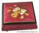 Lutèce Créations music box made of maple wood with musical instruments inlay and traditional 18 note musical mechanism - Item # for this Lutèce Créations music box : IM.18.4003