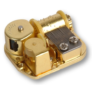 18 note spring musical mechanism for music boxes