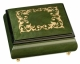 Musical ring box made in France by Lutèce Créations with traditional 18 note musical mechanism - Item # for this Lutèce Créations musical ring box : AR.18.4106