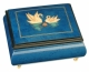 Musical ring box made in France by Lutèce Créations with traditional 18 note musical mechanism - Item # for this Lutèce Créations musical ring box : CY.18.4102