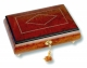 Lutèce Créations musical jewelry box made of wood with traditional 18 note musical mechanism - Item # for this Lutèce Créations musical jewelry box : LO.18.7000