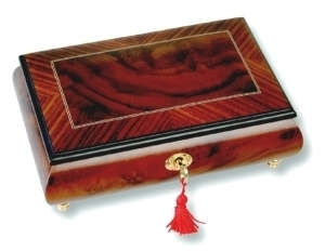 Lutèce Créations musical jewelry box made of wood with traditional 18 note musical mechanism - Item # for this Lutèce Créations musical jewelry box : VE.18.7000