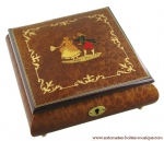 Lutèce Créations musical jewelry box made of wood with traditional 30 note musical mechanism - Item # for this Lutèce Créations musical jewelry box : DA.30.5100