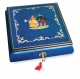Lutèce Créations musical jewelry box made of wood with traditional 18 note musical mechanism - Item # for this Lutèce Créations musical jewelry box : DA.18.5102