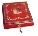 Lutèce Créations musical jewelry box made of wood with traditional 30 note musical mechanism - Item # for this Lutèce Créations musical jewelry box : DA.30.5103