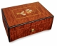 Lutèce créations music box made of mahogany wood with musical instruments inlay and traditional 50 note musical mechanism - Item # for this Lutèce Créations music box : IM.50.00