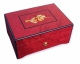 Lutèce créations music box made of mahogany wood with musical instruments inlay and traditional 50 note musical mechanism - Item # for this Lutèce Créations music box : IM.50.03