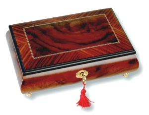 Lutèce Créations musical jewelry box made of wood with traditional 30 note musical mechanism - Item # for this Lutèce Créations musical jewelry box : VE.30.7000