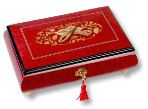 Lutèce Créations musical jewelry box made of wood with traditional 30 note musical mechanism - Item # for this Lutèce Créations musical jewelry box : IM.30.7003