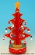 Christmas tree music box with traditional 18 note musical mechanism - Item # for this Christmas tree music box : 48065