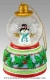 Christmas musical snow globe made by Mr Christmas with traditional 18 note musical mechanism - Item # for this Christmas musical snow globe made by Mr Christmas : G1606-2