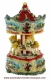 Christmas miniature musical carousel made of resin with traditional 18 note musical mechanism - Item # for this Christmas miniature musical carousel: 49035