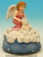 Musical angel automaton made of polystone with traditional 18 note musical mechanism - Item# for this musical angel automaton : 25139