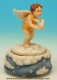 Musical angel automaton made of polystone with traditional 18 note musical mechanism - Item# for this musical angel automaton : 25136