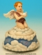 Musical angel automaton made of polystone with traditional 18 note musical mechanism - Item# for this musical angel automaton : 25140