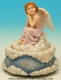 Musical angel automaton made of polystone with traditional 18 note musical mechanism - Item# for this musical angel automaton : 25138