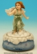 Musical angel automaton made of polystone with traditional 18 note musical mechanism - Item# for this musical angel automaton : 25135