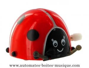 Automaton, mechanical walking animal : Ladybird with hand cranked mechanism - Item# for this automaton, mechanical walking animal : 999