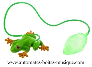 Jumping automaton: jumping green frog with air pump - Item# for this jumping automaton : 633117