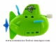 Floating boat automaton made of plastic with traditional rewind key - Item # for this floating boat automaton : 1046-VERT
