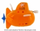 Floating boat automaton made of plastic with traditional rewind key - Item # for this floating boat automaton : 1046-ORANGE