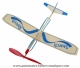 Propeller airplane automaton made of balsa wood with rubber band motor - Item # for this airplane automaton : 6015200