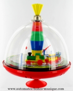 Spinning top with automatons and electronic mechanism - Item# for this spinning top with automatons : 6236241