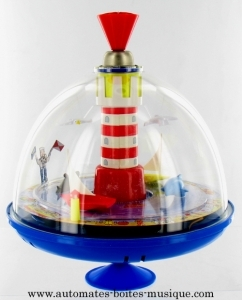 Spinning top with automatons and electronic mechanism - Item# for this spinning top with automatons : 623645