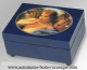 Musical jewelry box with printed photo and traditional 18 note musical mechanism - Item# for this musical jewelry box with printed photo : 635625