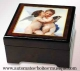 Musical jewelry box with printed photo and traditional 18 note musical mechanism - Item# for this musical jewelry box with printed photo : 89203