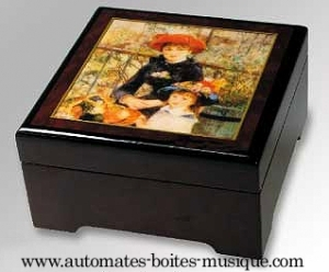Musical jewelry box with printed photo and traditional 18 note musical mechanism - Item# for this musical jewelry box with printed photo : 89206