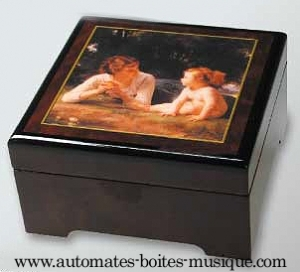 Musical jewelry box with printed photo and traditional 18 note musical mechanism - Item# for this musical jewelry box with printed photo : 89202