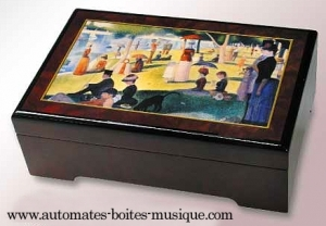 Musical jewelry box with printed photo and traditional 18 note musical mechanism - Item# for this musical jewelry box with printed photo : 89106