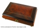 Musical jewelry box made of wood with traditional 18 note musical mechanism - Item # for this musical jewelry box: 85811