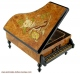 Musical jewelry box in the shape of a grand piano with traditional 18 note musical mechanism - Item # for this musical jewelry box : 8293