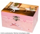 Trousselier musical jewelry box made of wood with dancing ballerina and traditional 18 note musical mechanism - Item # for this Trousselier musical jewelry box: 50-917