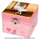 Trousselier musical jewelry box made of wood with dancing ballerina and traditional 18 note musical mechanism - Item # for this Trousselier musical jewelry box : 20-917