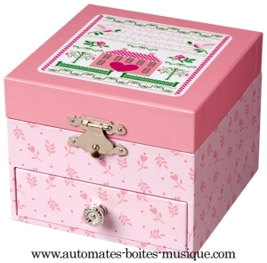 musical jewelry box with dancing fairy and traditional 18 note