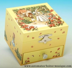Wizard of Oz musical jewelry box with dancing fairy and traditional