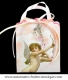 Musical bag music box with 18 note musical mechanism - Reference of the guardian angel musical bag music box: 17003-1