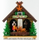 Non-musical miniature swiss chalet made of plastic without any 18 note musical mechanism - Item # for this non-musical miniature swiss chalet : 6041210