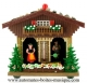 Non-musical miniature swiss chalet made of plastic without any 18 note musical mechanism - Item # for this non-musical miniature swiss chalet : 6041200