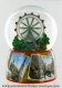 Musical snow globe made of resin with traditional 18 note spring musical mechanism - Item # for this musical snow globe : 25205
