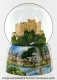 Musical snow globe made of resin with traditional 18 note spring musical mechanism - Item # for this musical snow globe : 25206